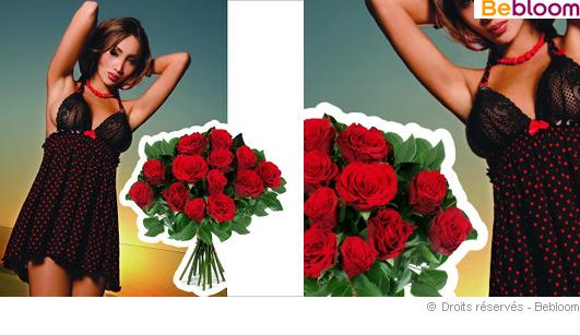 Offrir un bouquet coquin