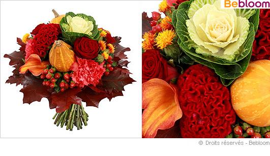 bouquet de fleurs automne