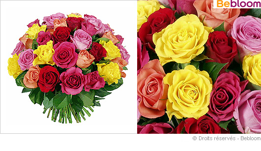 Bouquet de roses fetes des meres