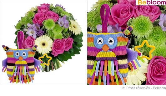 bouquet de fleurs cadeau naissance