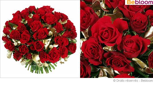 Offrir un bouquet de roses rouge