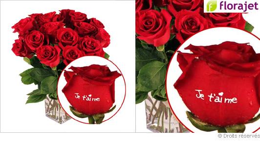 Bouquet De Roses Marquees Je T Aime