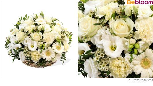 Composition fleurie funeraire