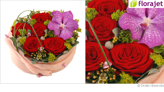Composition florale Saint Valentin