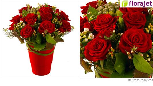 Offrir des roses rouges éclatantes pour la St Valentin