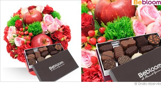 Offrir un bouquet de fleurs et des chocolats pour la saint valentin