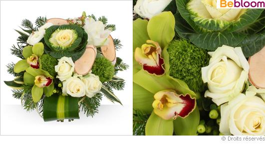 Bouquet de fleurs pour le réveillon du jour de l'an