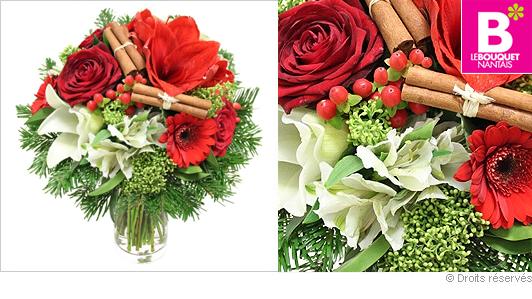Livraison bouquet de noël rond