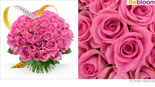 Bouquet de roses roses sur mesure