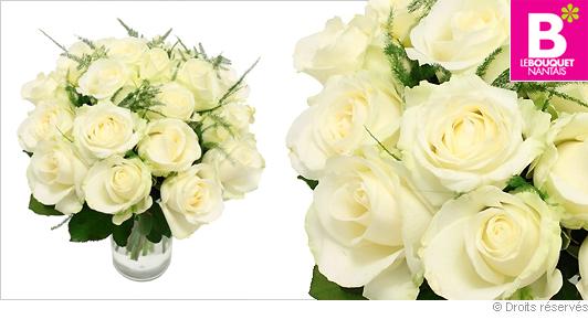 Livraison bouquet de roses blanches