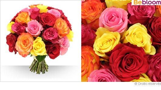 Livraison bouquet de roses variées gros boutons