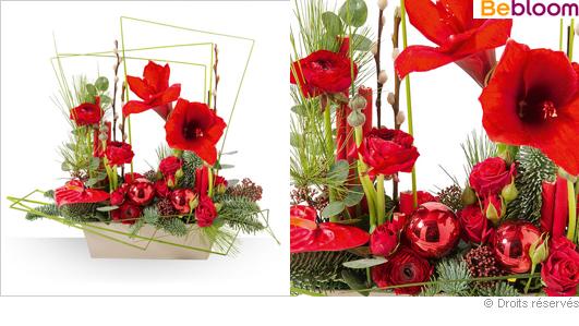 Composition florale part 3 for Amaryllis pour noel