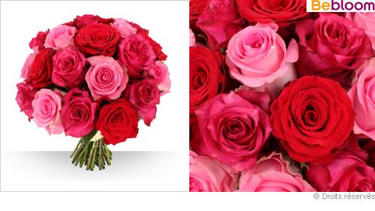 Livraison de fleurs roses gros boutons camaieu de roses