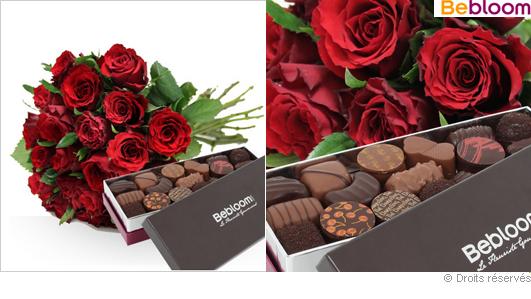 Roses et chocolats de noel