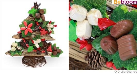 Sapin gourmand, chocolats et friandises