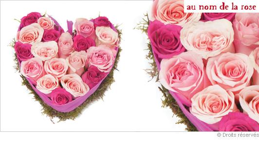 Envoyer un cœur de roses
