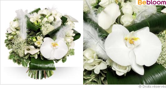 Livraison bouquet de fleurs blanches