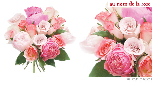Offrir un bouquet de roses et pivoines