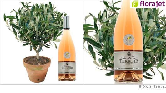 Offrir un olivier et une bouteille de rosé pour la fête des pères