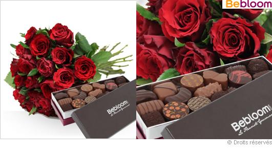 Livraison de fleurs, roses et chocolats pour noel