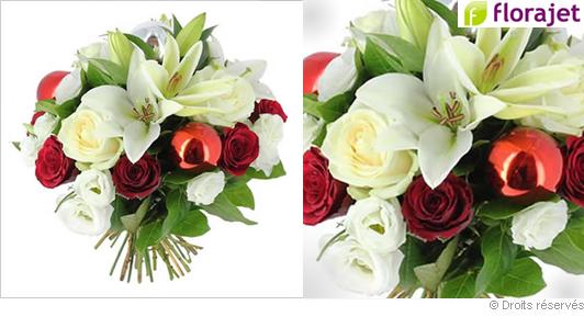 Livraison de fleurs, bouquet fêtes de Noel, nouvel an