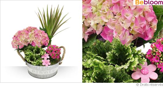 Offrir une jardinière fleurie