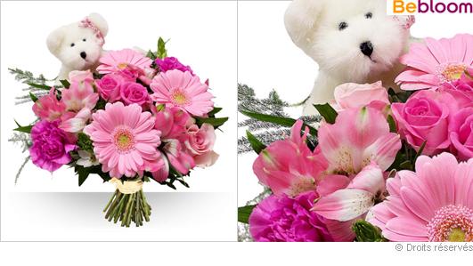 Bouquet de fleurs Naissance
