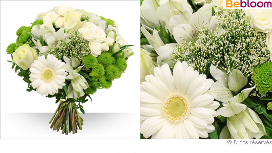 Livraison de fleurs blanches