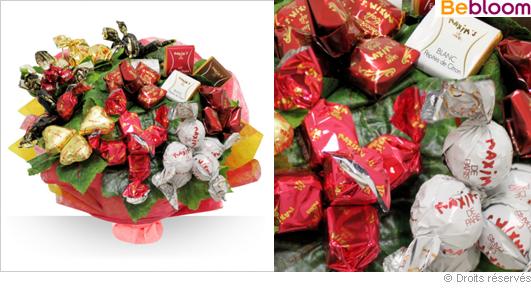 Offrir un bouquet gourmand, confiseries Maxim's