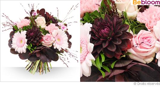 Livraison de  fleurs bouquet tendance Automne
