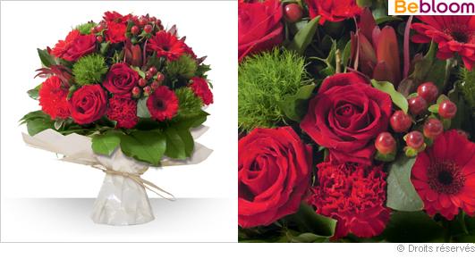 Livraison de roses et fleurs rouges