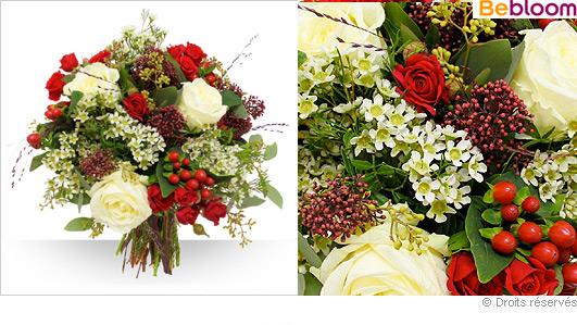 Livraison de fleurs Noel, bouquet féérie