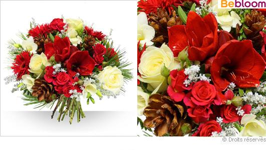 Livraison fleurs pas cher, bouquet noel
